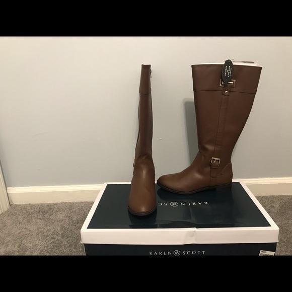 c7c91b85b52 Karen Scott Deliee Wide Calf Riding Boot NWT